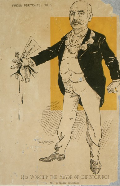 Charles Louisson caricature, 1899