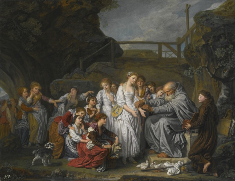 JEAN-BAPTISTE GREUZE THE HERMIT, OR THE DISTRIBUTOR OF ROSARIES
