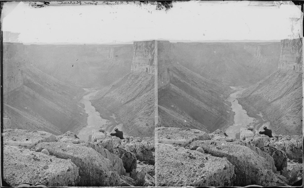 COLORADO RIVER, FROM PLATEAU BELOW THE PARIA, MARBLE CANYON, 1200 FEET DEEP - NARA - 523941