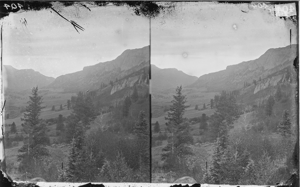 CONEJOS RIVER VALLEY CANYON, COLORADO (PANORAMA WITH NWDNS 106-WA-396) - NARA - 524043