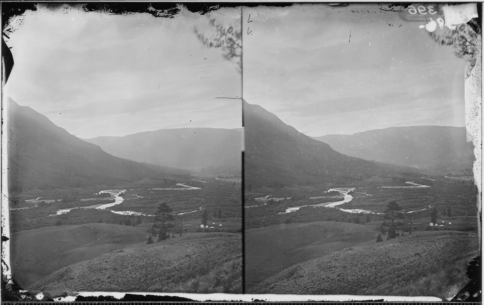 CONEJOS RIVER VALLEY CANYON, COLORADO (PANORAMA WITH NWDNS 106-WA-404) - NARA - 524035
