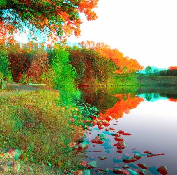 Lake Shore Wals anaglyph