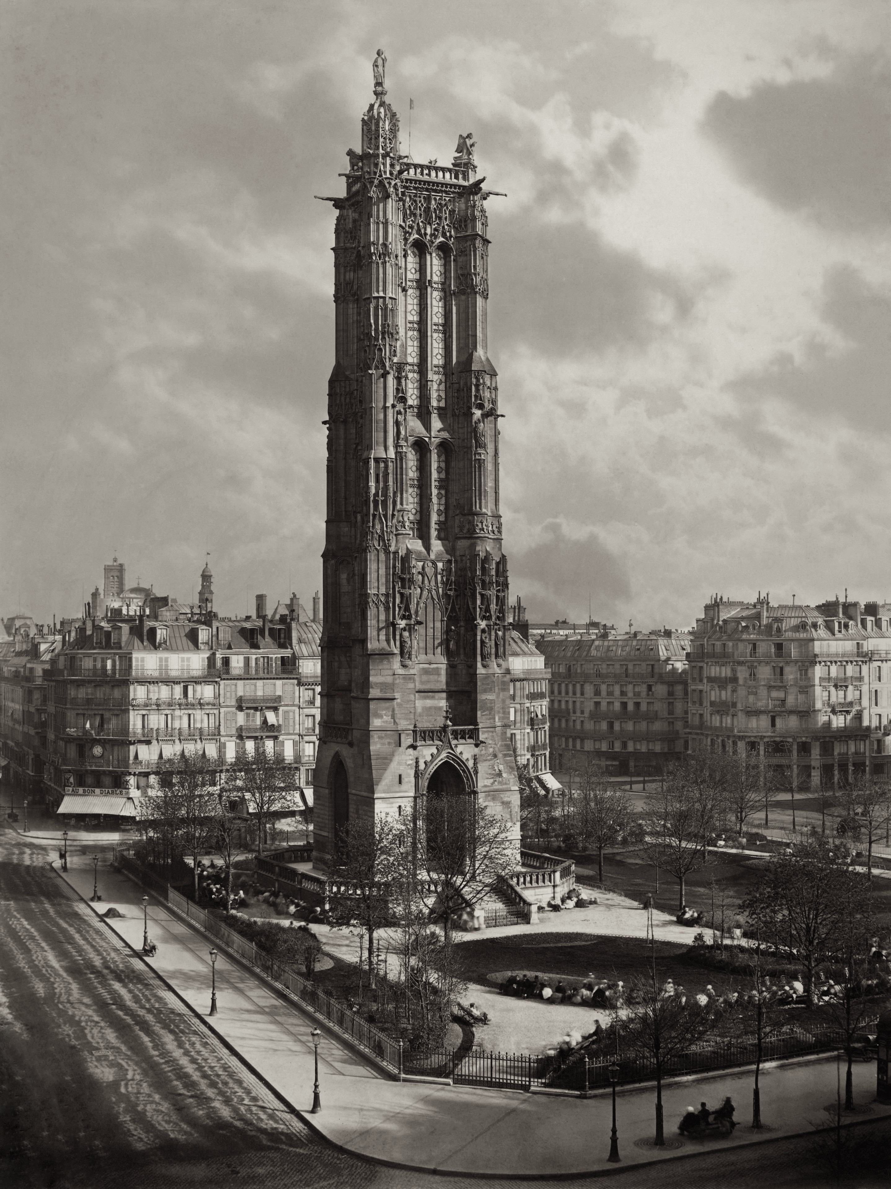 La Tour St. Jacques La Boucherie à Paris ca. 1867