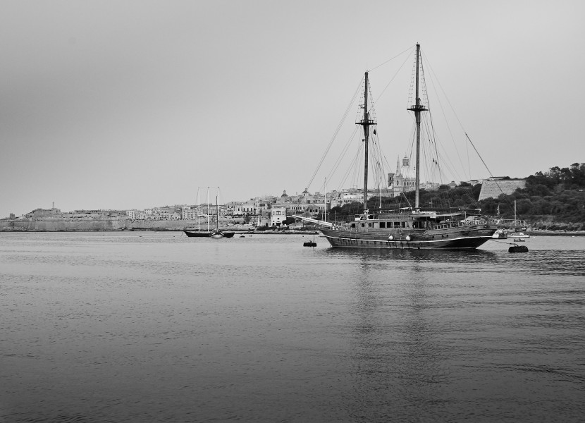 A two-mast ship in Valletta waterfront-IMG 1753