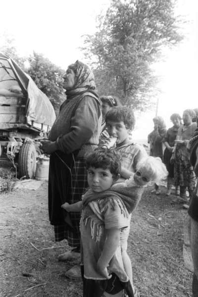 Azerbaijani refugees from Karabakh during the war