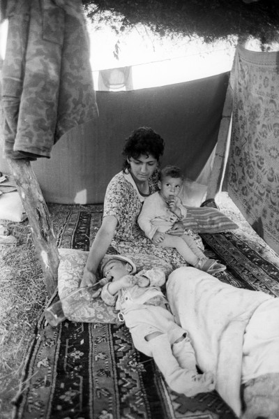 Azerbaijani refugees from Karabakh during the war 14
