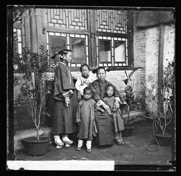 China; a Manchu lady with her daughter in-law Wellcome L0055923