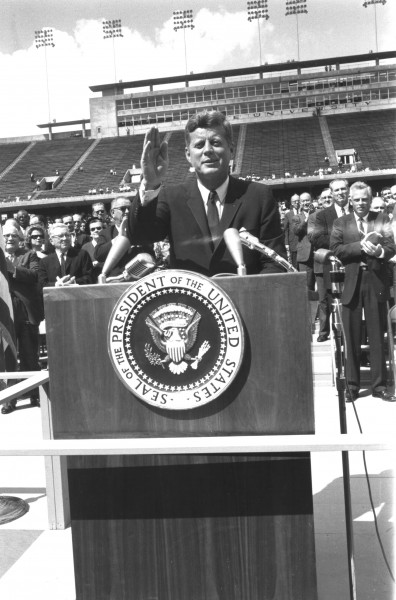 Kennedy at Rice University - GPN-2000-001618