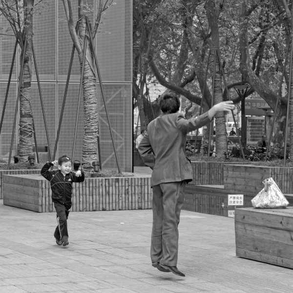 Man dancing with his kid