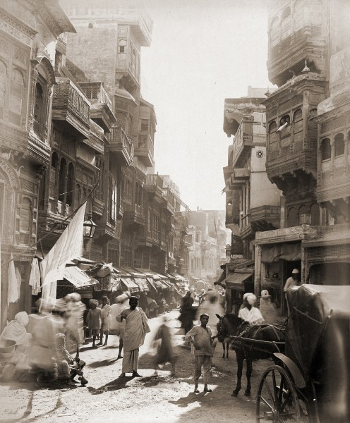Old View of Street in Lahore
