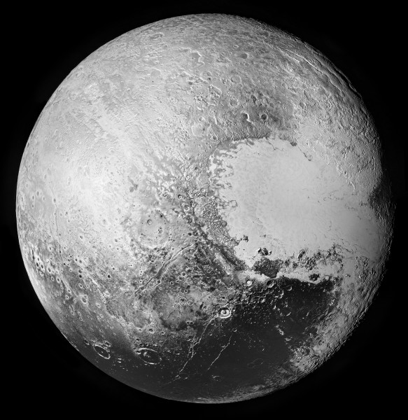 Pluto via New Horizons (composite)