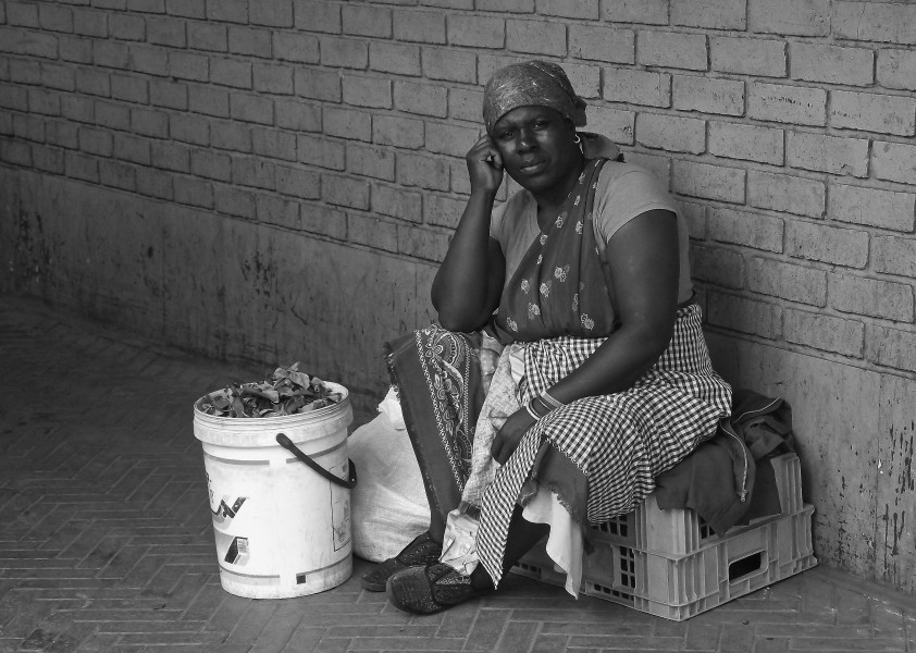 She makes her living my selling fresh produce at an inner city market (Johannesburg CBD, 2010)