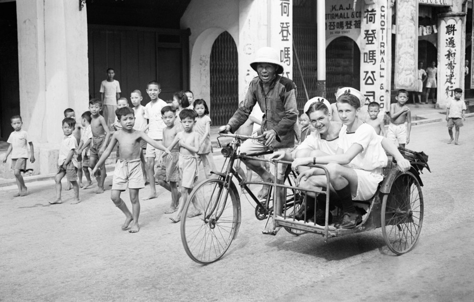 Singapore- Sightseeing. 8 and 9 September 1945, Singapore. A30587