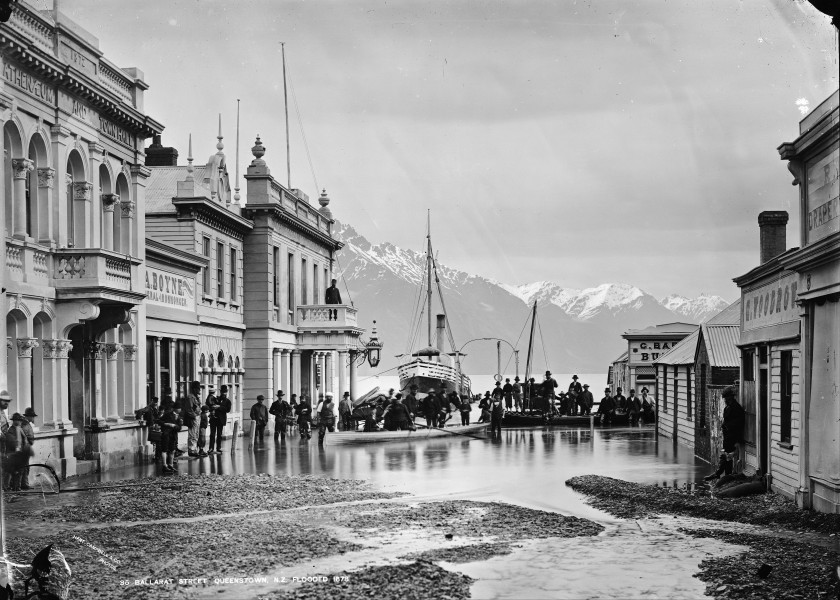 William P. Hart - Ballarat Street, Queenstown, NZ, flooded 1878 - Google Art Project