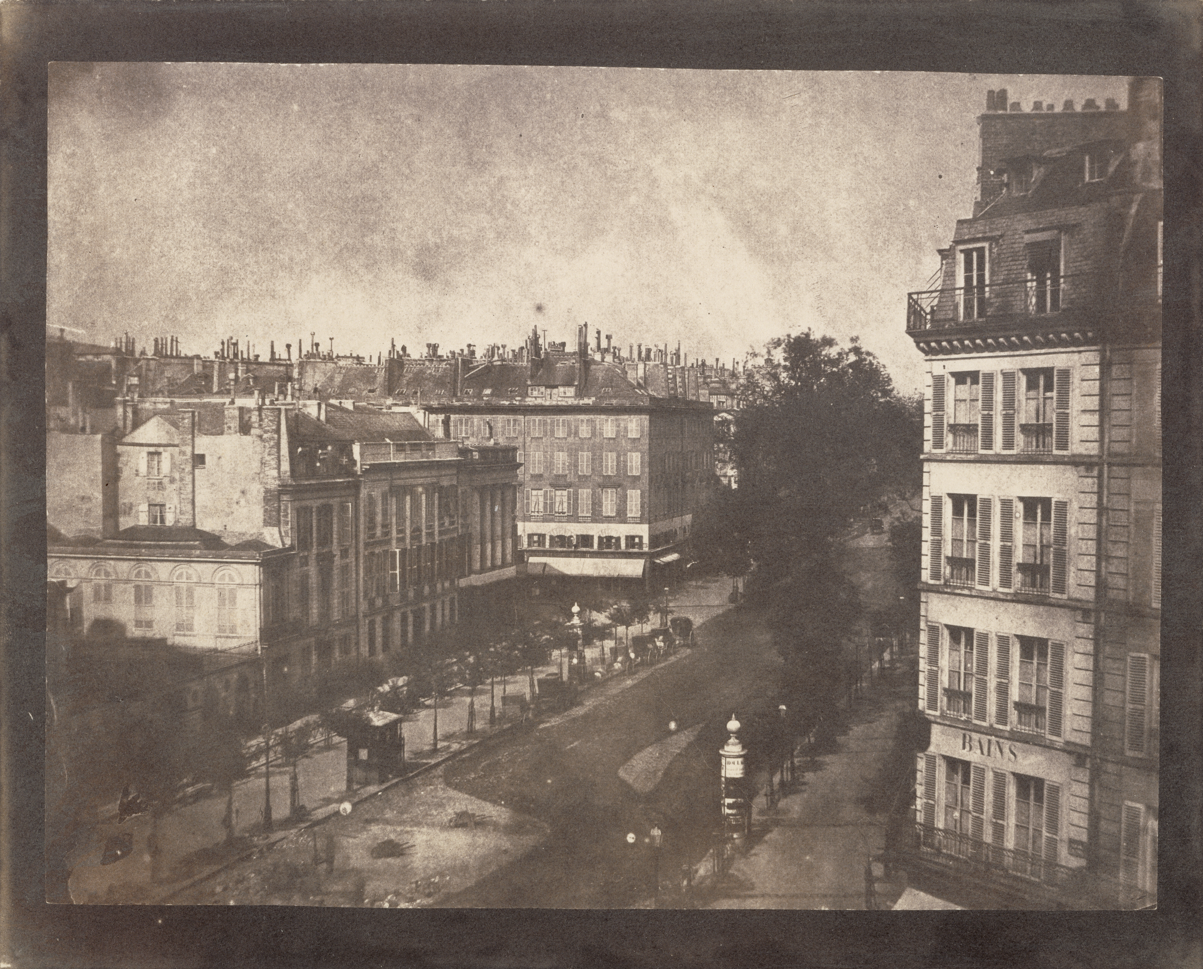 William Henry Fox Talbot, View of the Boulevards of Paris, 1843