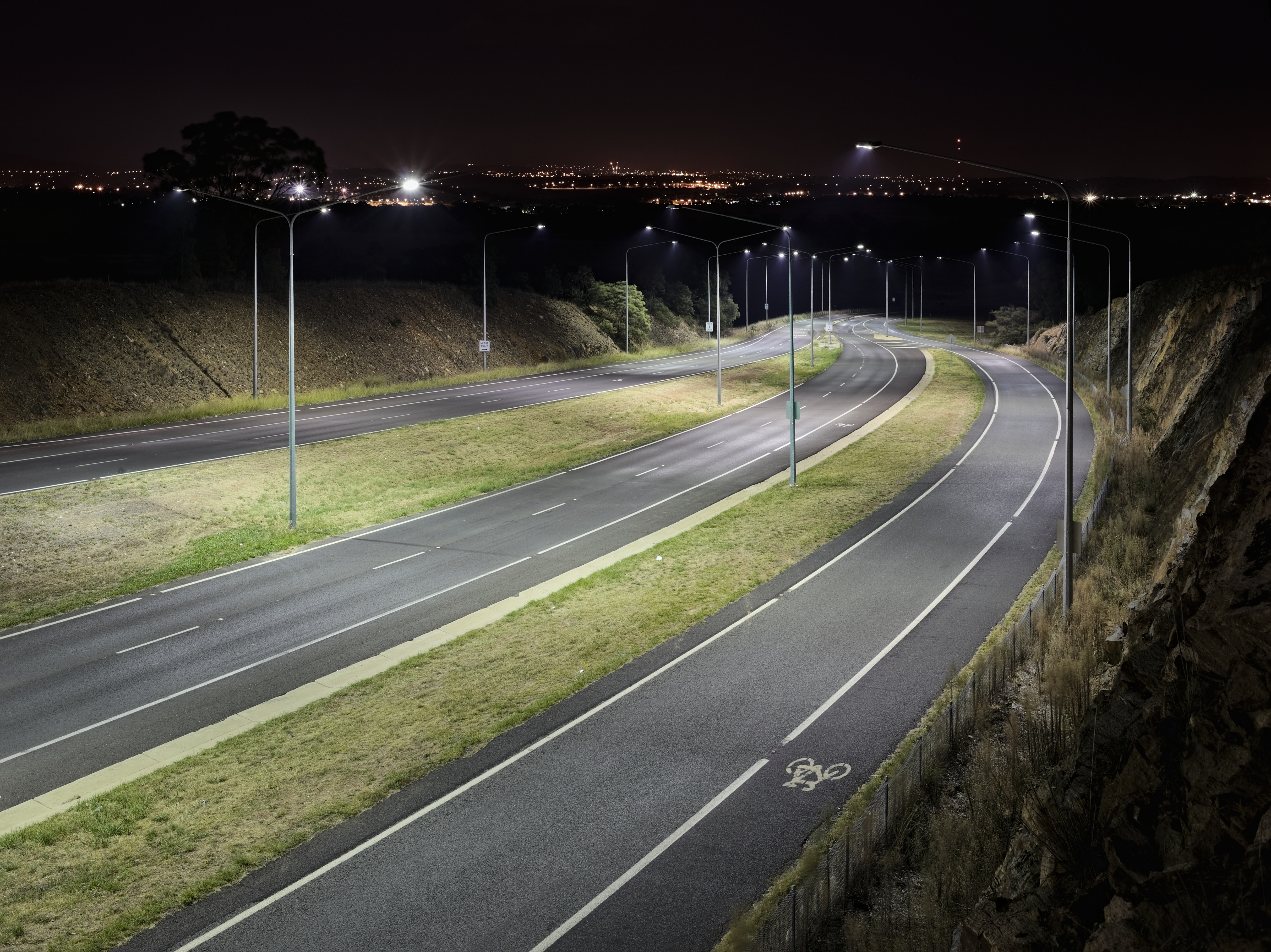 Horse Park Drive, North Canberra ACT at night