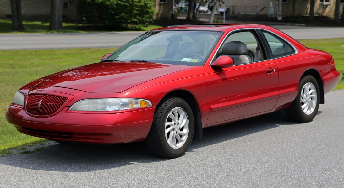1998 Lincoln Mark VIII LSC in red, front left