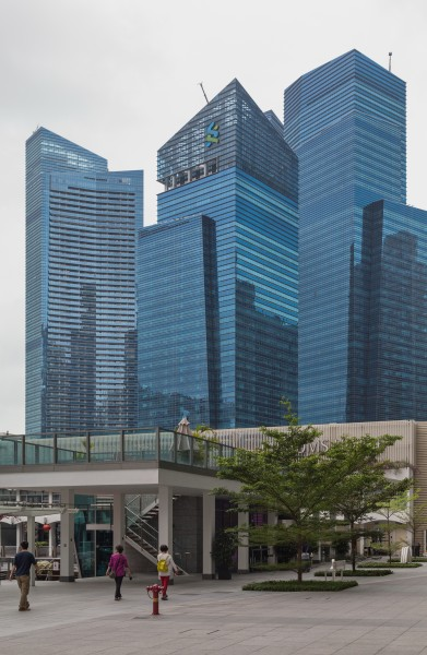 2016 Singapur, Downtown Core, Marina Bay Financial Centre