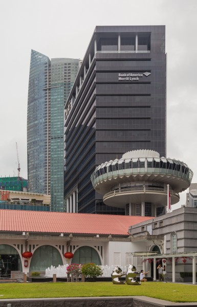 2016 Singapur, Downtown Core, OUE Bayfront i Change Alley Aerial Plaza