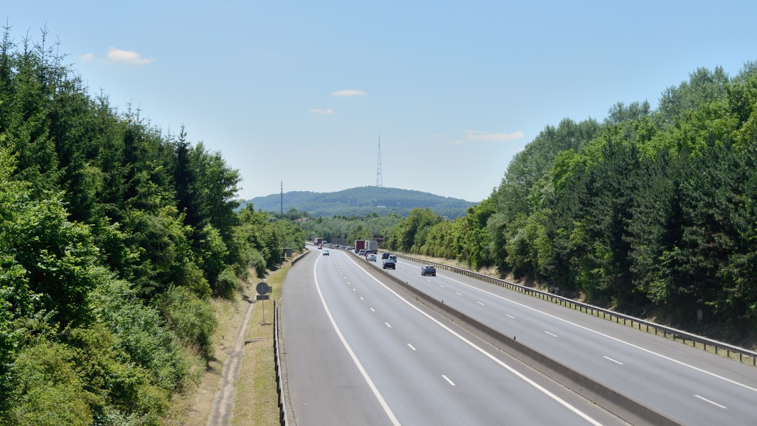 A3 Luxembourg from footbridge Bettembourg