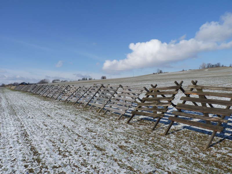 Úblo, snow fences