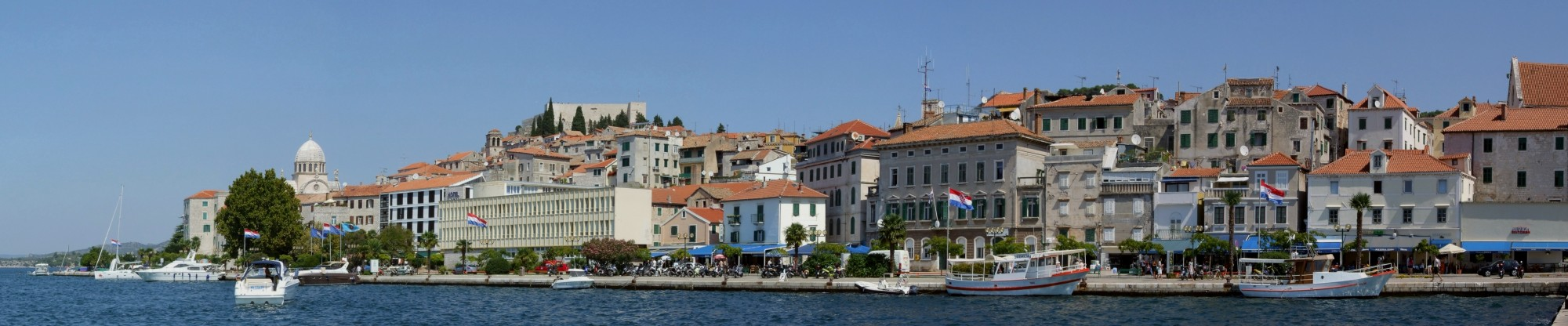 Šibenik harbour - panorama
