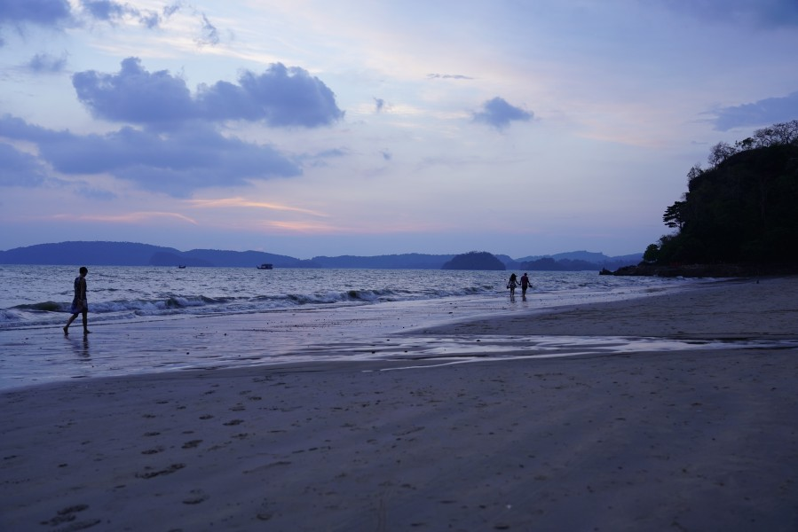 A view of Ao Nang beach, Krabi