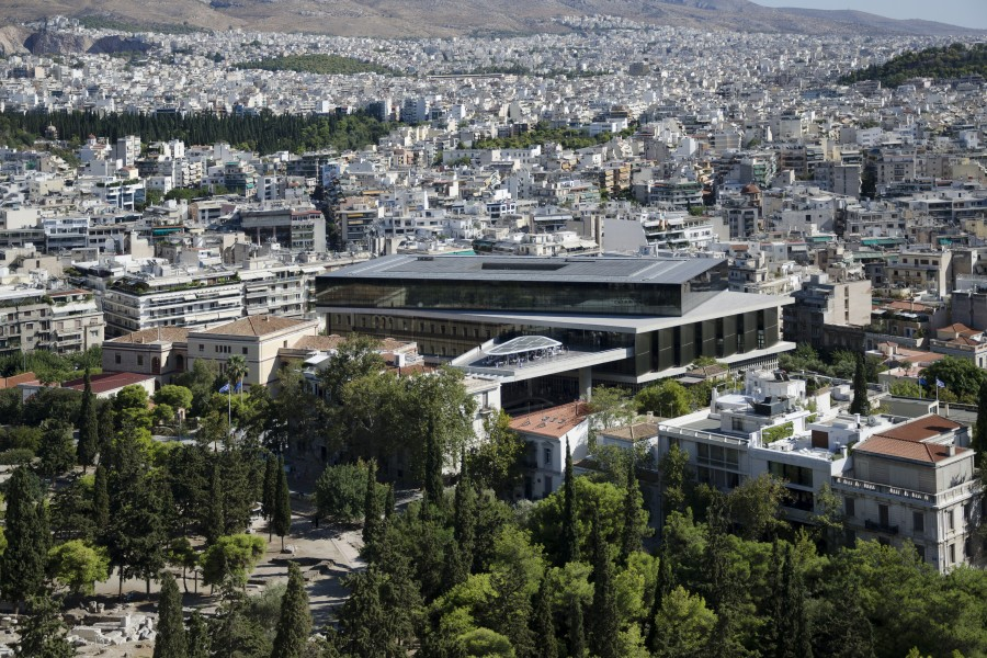 Acropolis museum seen from Acropolis 2017