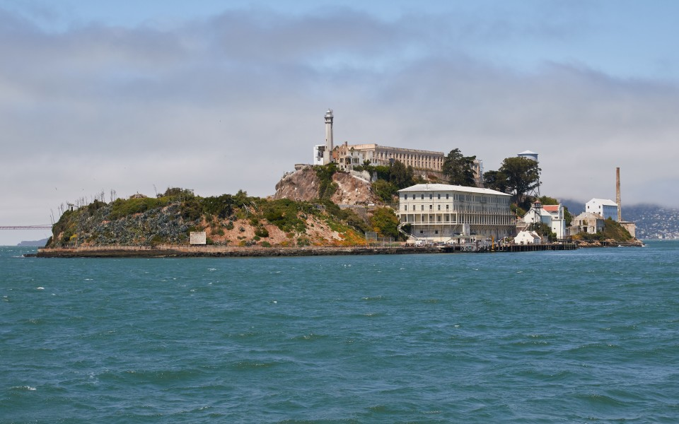 Alcatraz Island as seen from the East