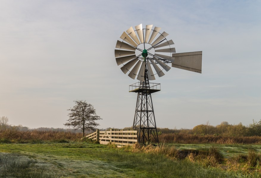 Amerikaanse windmolen in ('It Wikelslân). Locatie, De Alde Feanen in Friesland 01