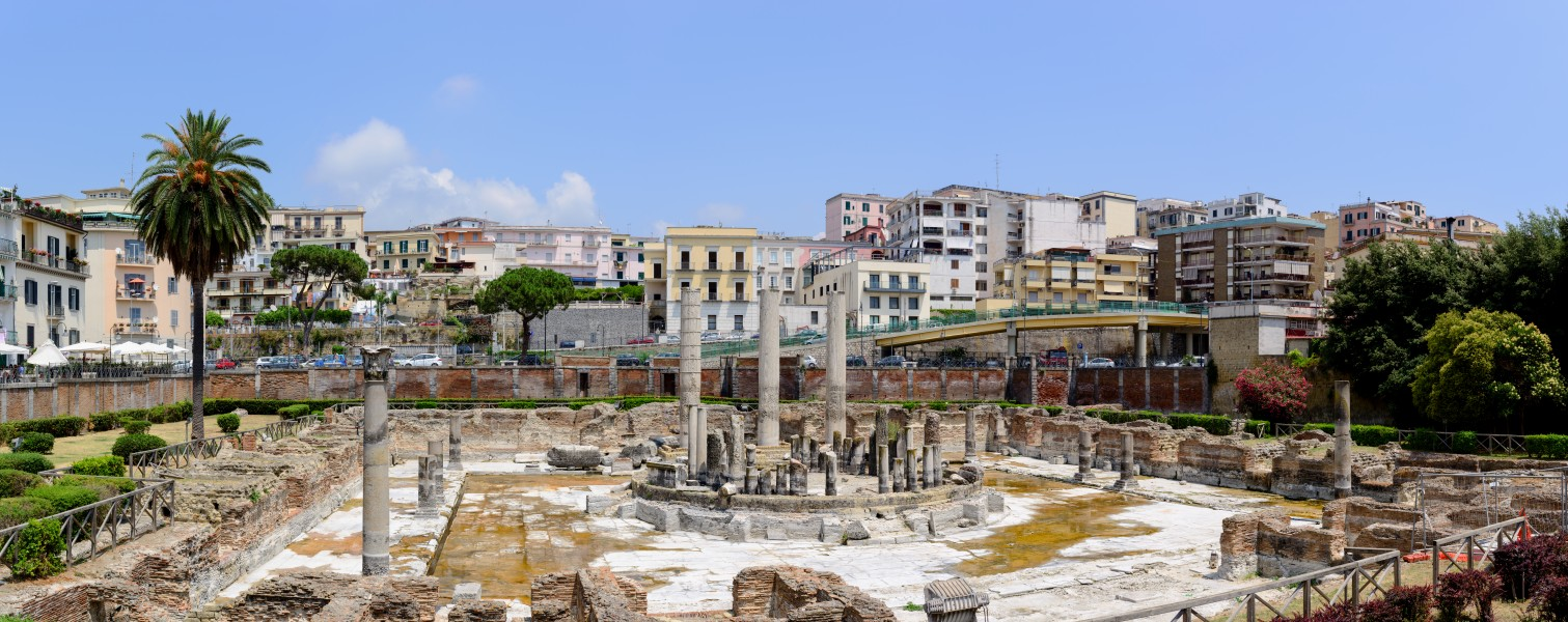Ancient Roman market place and Serapis temple panorama - Pozzuoli - Campania - Italy - July 11th 2013