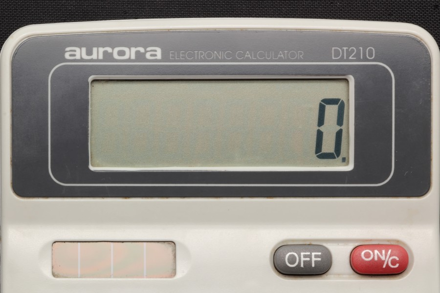 Aurora electronic calculator DT210 07