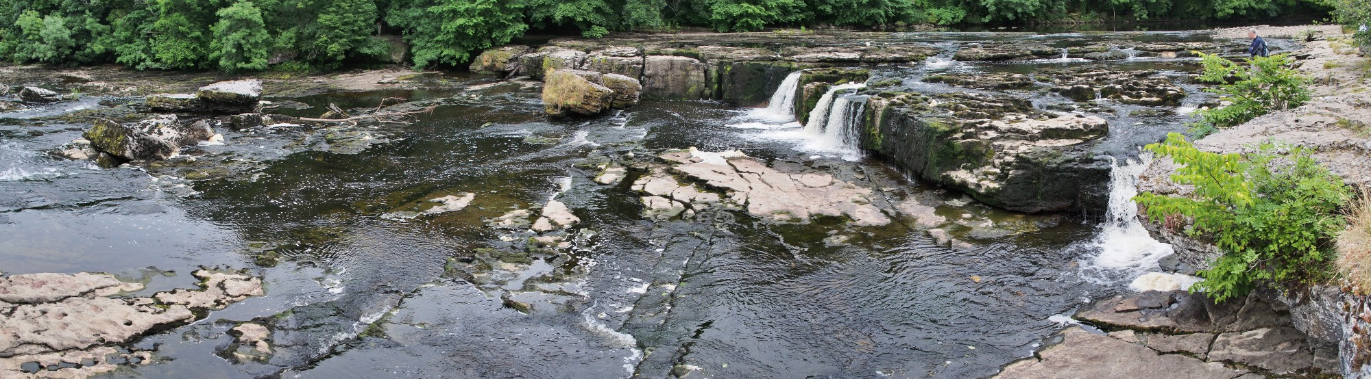 Aysgarth Falls Upper Falls panoramic view