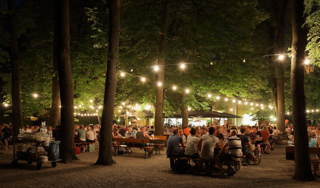 Biergarten at Night 2