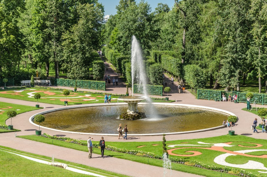Big Italian (First) fountain in the Lower Park of Peterhof