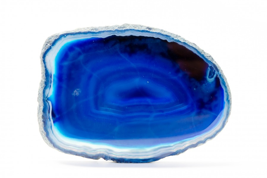 Blue agate slice