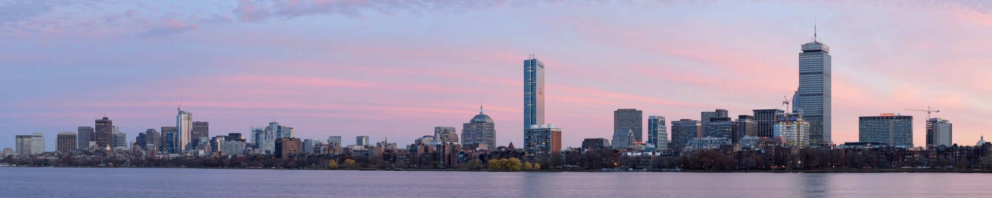 Boston skyline from Cambridge November 2015 panorama 1