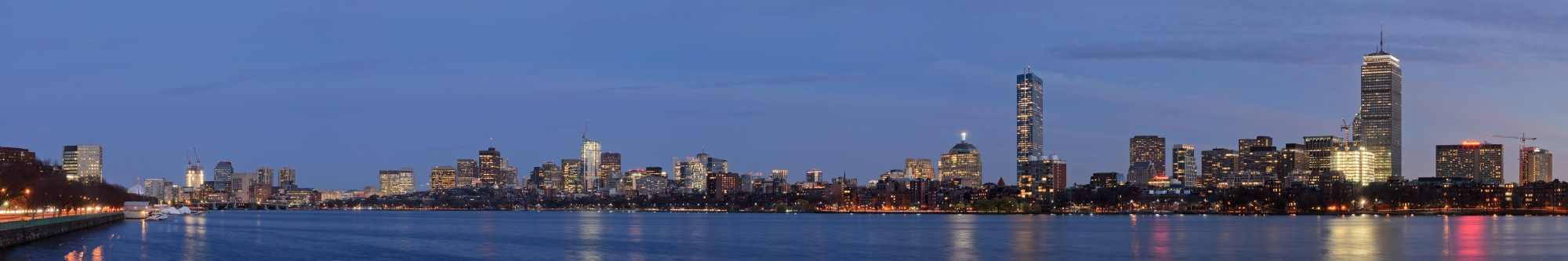 Boston skyline from Cambridge November 2015 panorama 2