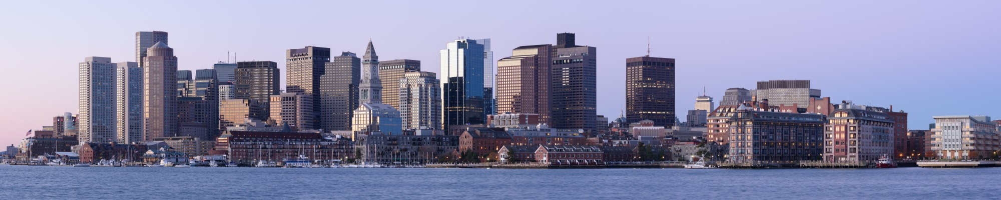 Boston skyline from East Boston November 2016 panorama 2