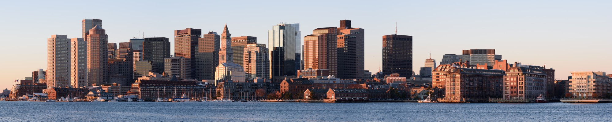 Boston skyline from East Boston November 2016 panorama 3