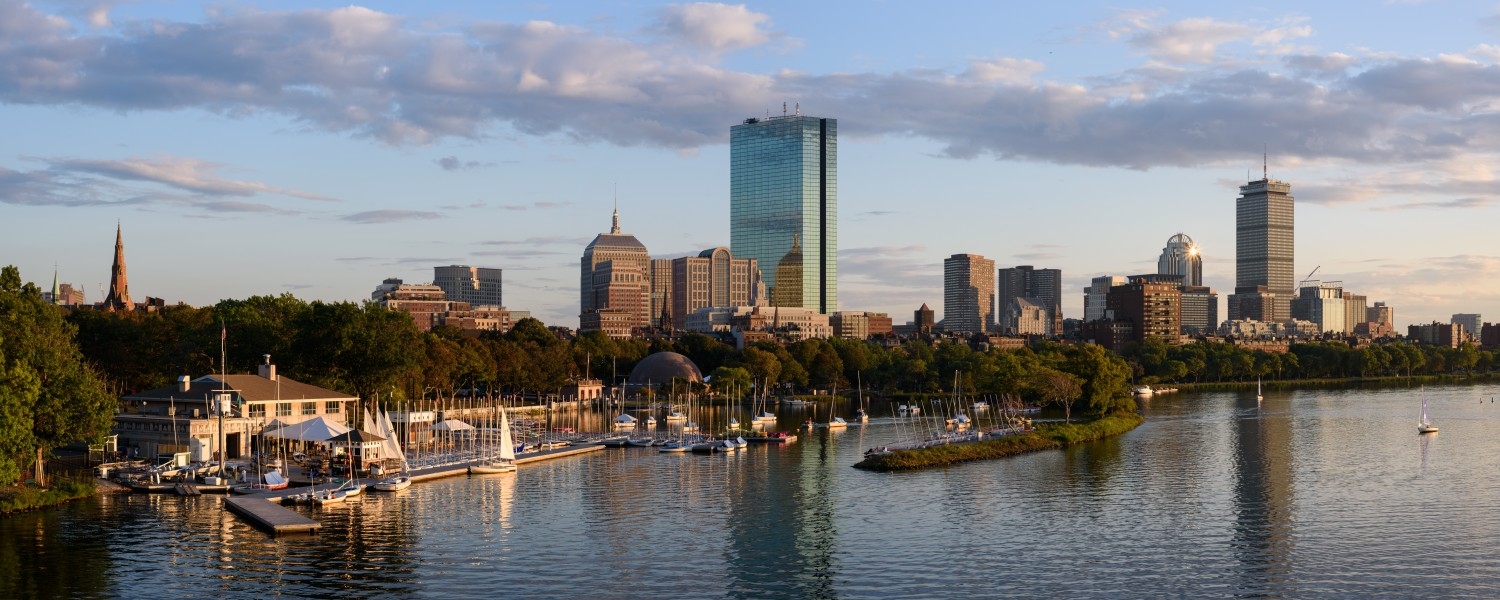 Boston skyline from Longfellow Bridge September 2017 panorama 2