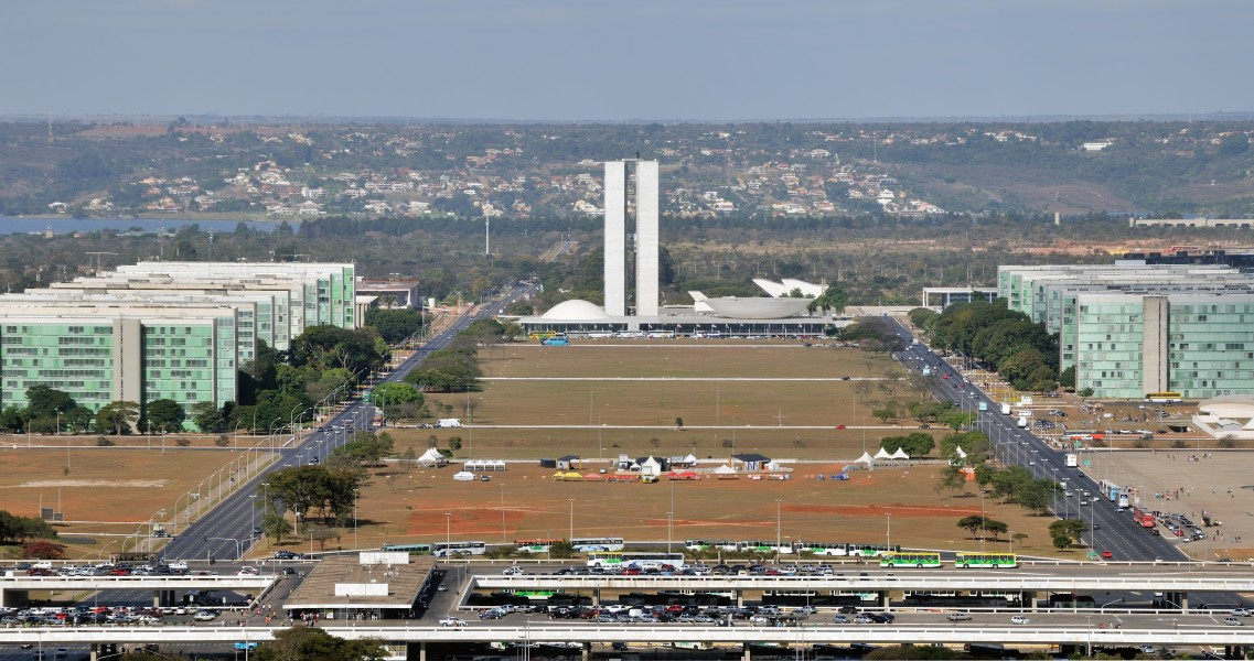 Brasilia Eixo Monumental Nat Congress Ministries from TV Tower