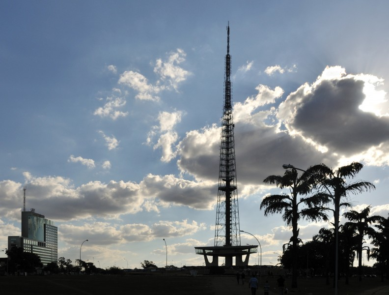 Brasilia Television Tower from East contre-jour