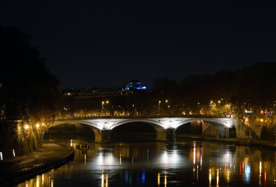 Bridge Umberto I at Night
