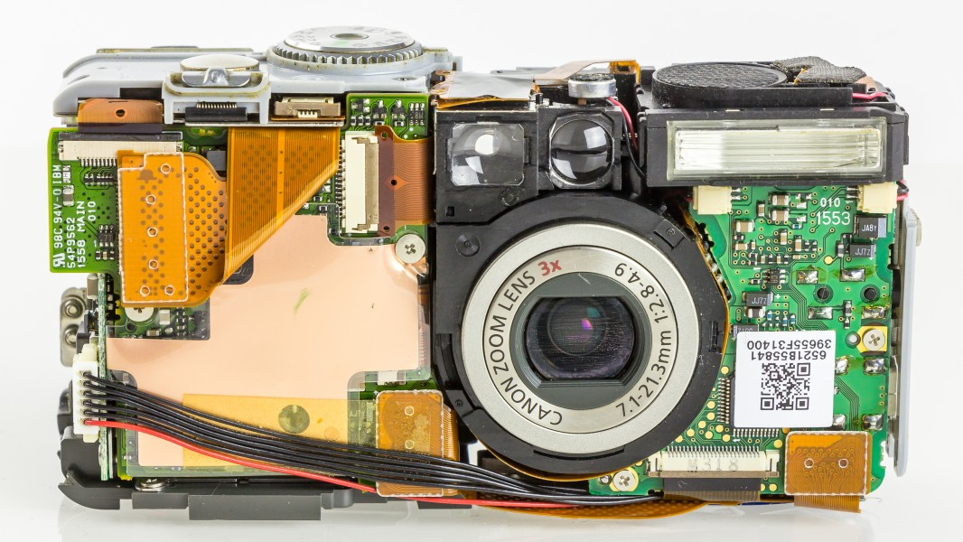 Canon PowerShot S45 - front view, cover removed-4221