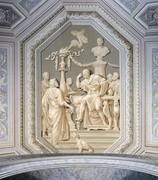 Ceiling of Caesar Augustus speaks with essays