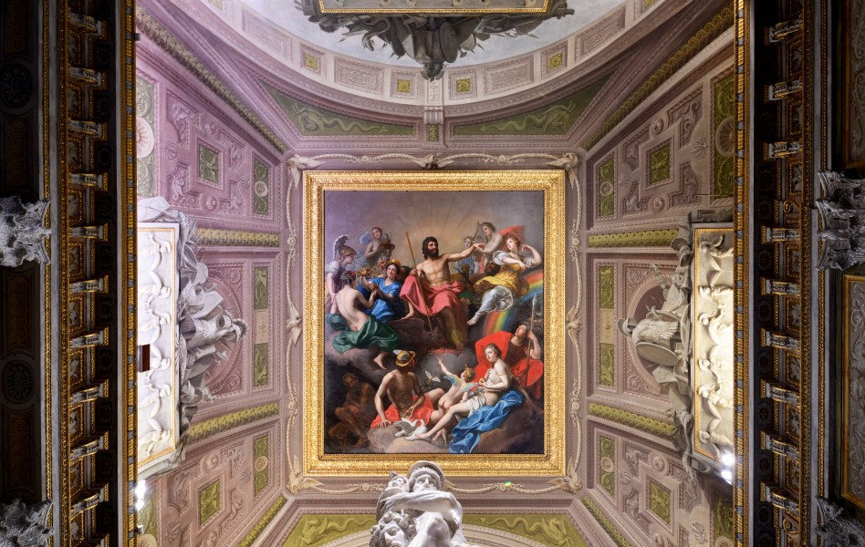Ceiling of the room of the gladiator - Galleria Borghese (Rome)