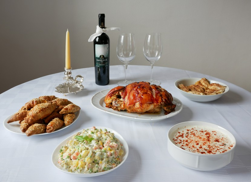 Christmas table (Serbian cuisine)