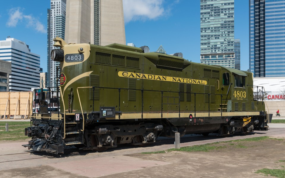 CN 4803 in Roundhouse Park, Toronto 20170417 1