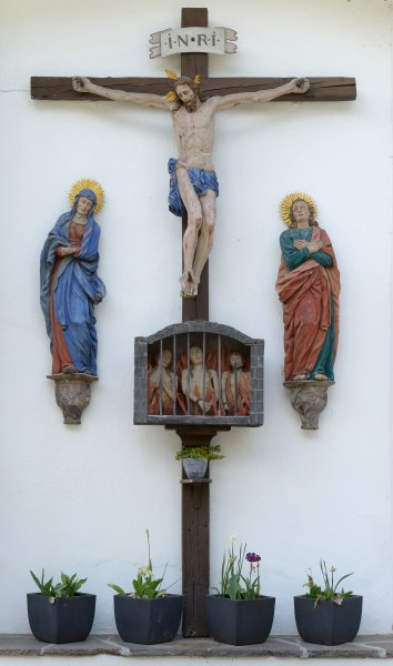 Crucifixion with Mary and John Völs am Schlern